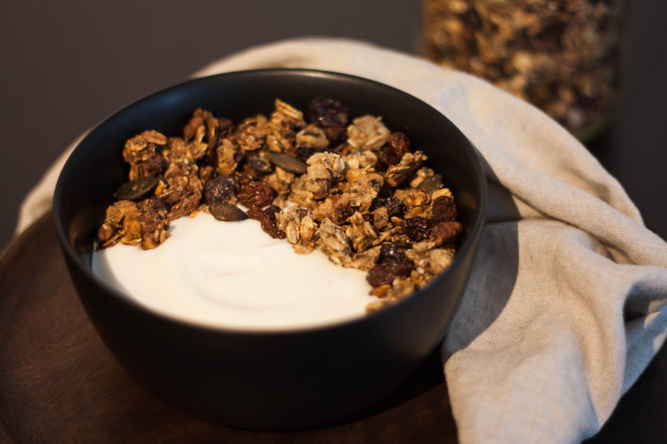 Granola mit Sojajoghurt
