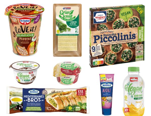 Übersicht vegane Produktneuheiten verschiedener Marken
